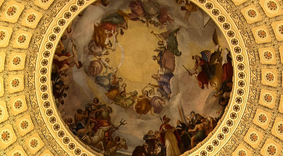 detail from the Capitol rotunda