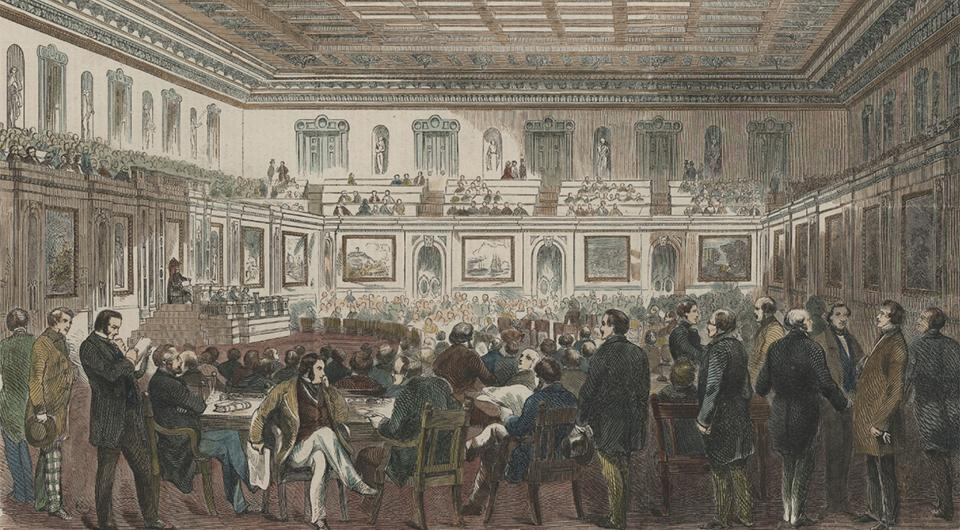 The New Hall of Representatives with the Members in Session, Collection of the U.S. House of Reps