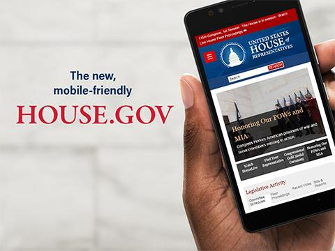 Mobile device on House.Gov website