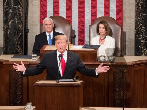 President Donald Trump delivers his second State of the Union Address to a joint session of Congress