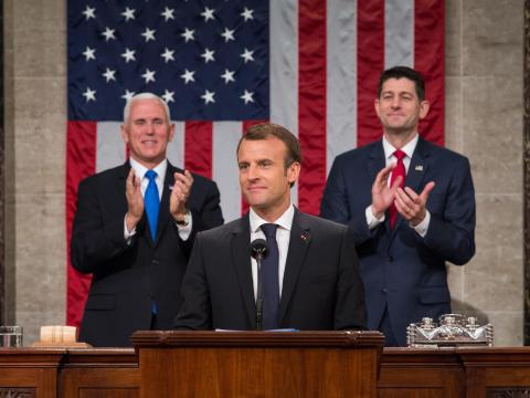 French President Macron Addresses Joint Meeting Of Congress