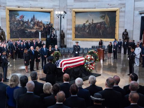 Senator McCain lies in State in the U.S. Capitol Rotunda