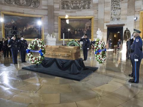 Reverend Billy Graham Lying In Honor In U.S. Capitol Rotunda