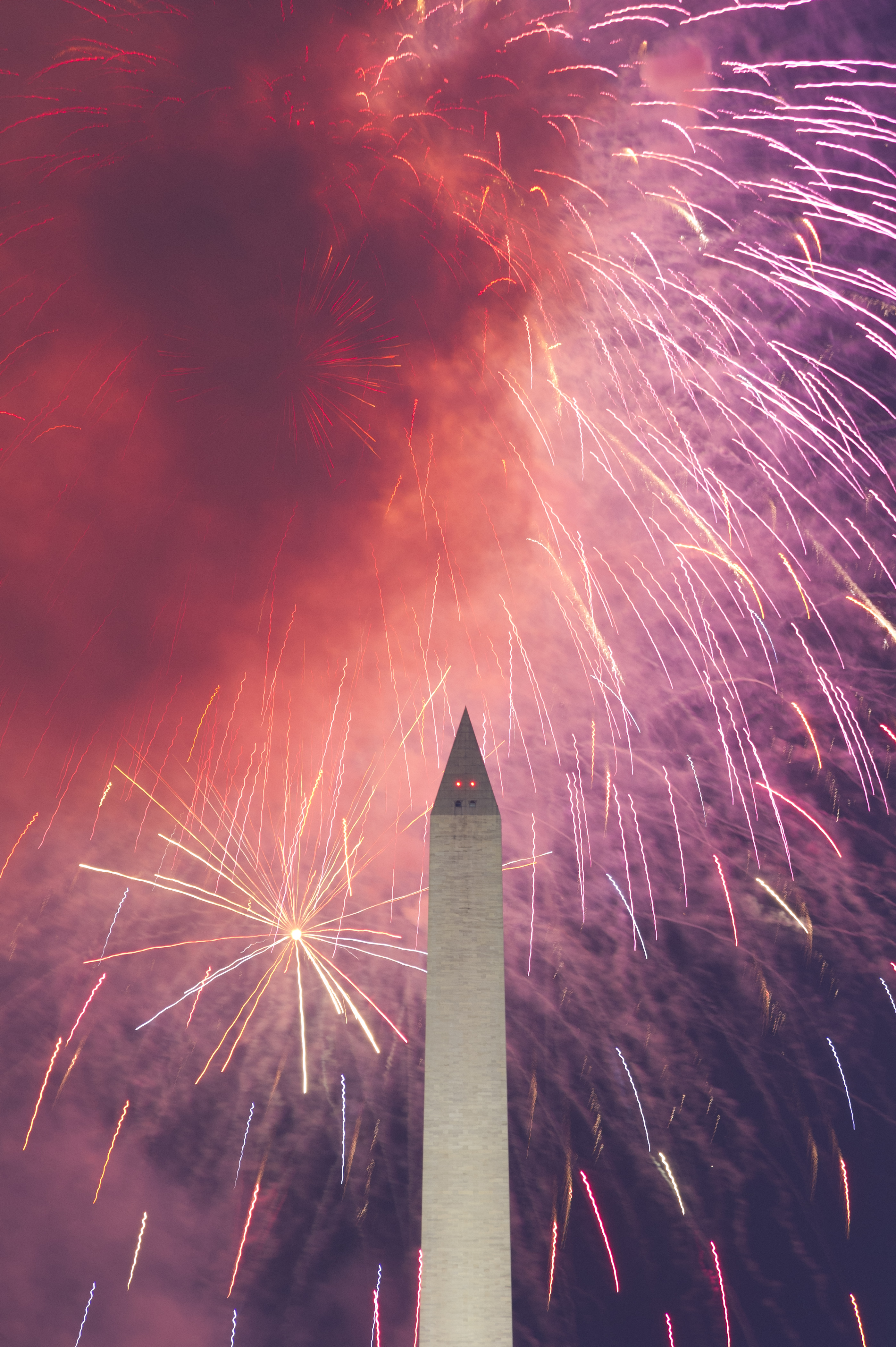 Fireworks over the National Mall on July 4, 2011. Photo by Eric Connolly.