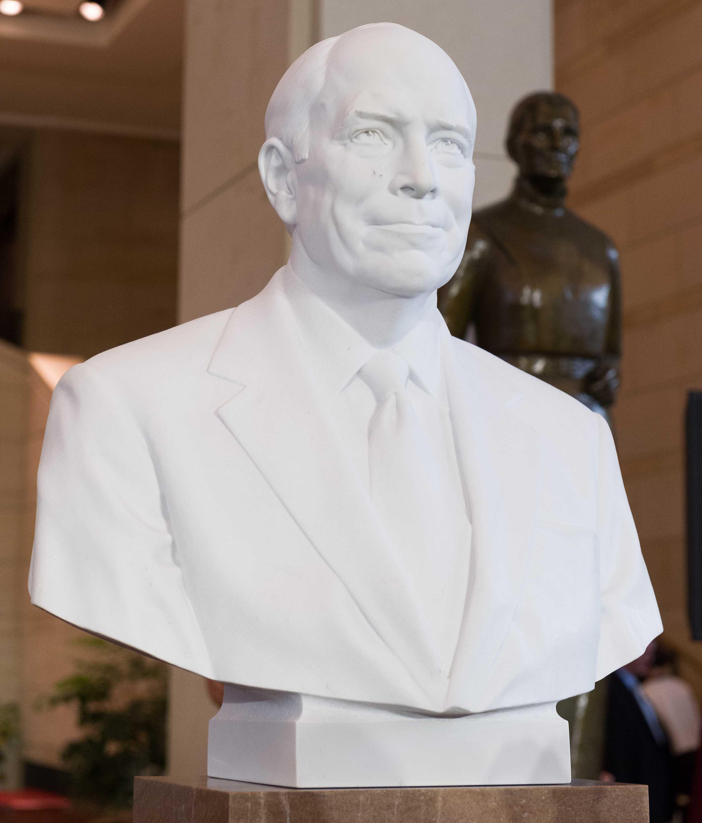 The bust of former Vice President Dick Cheney