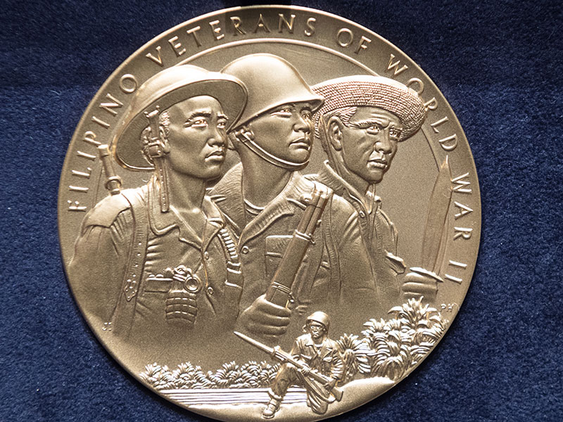 The Filipino Veterans of World War II Gold Medal.