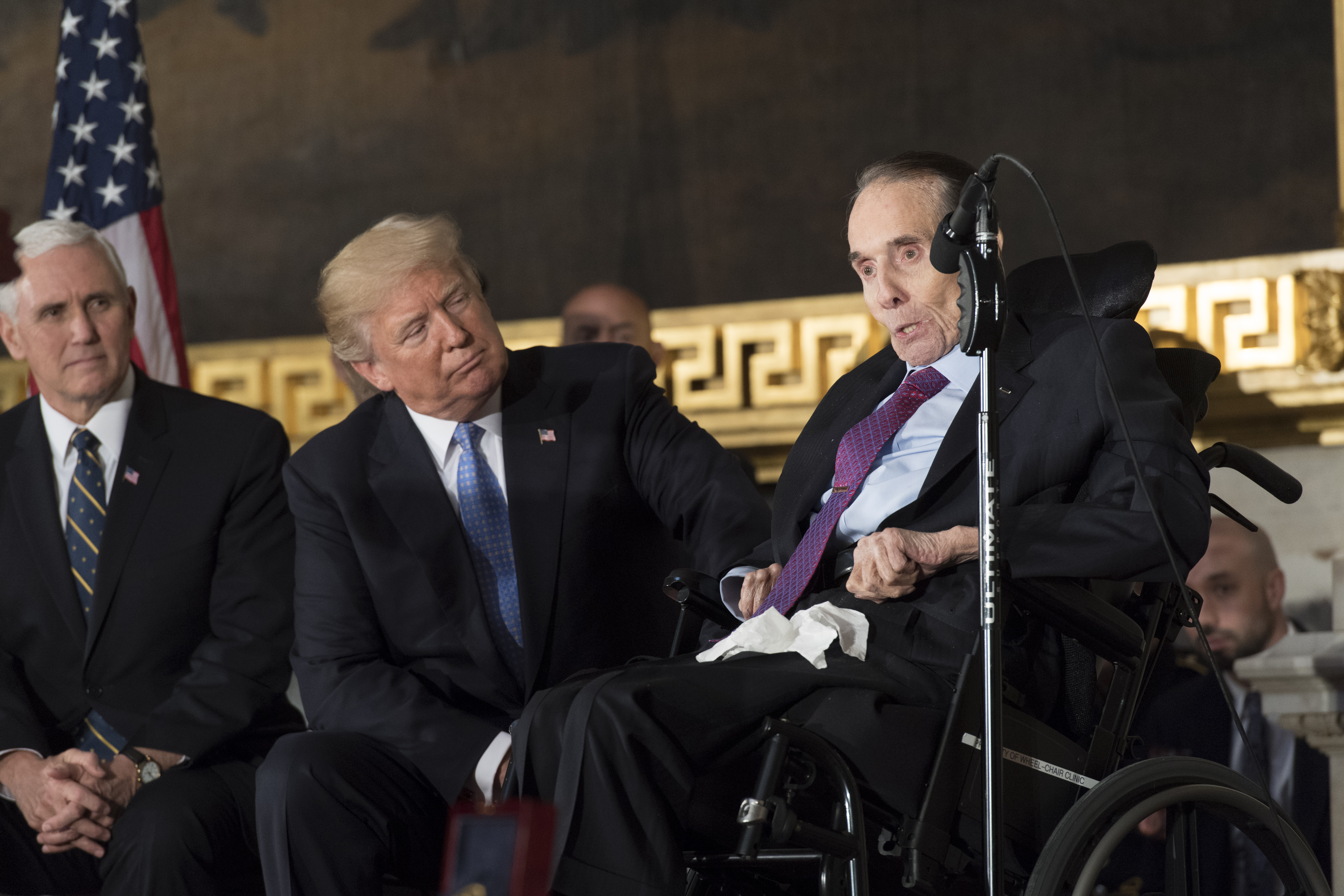 Senator Bob Dole Speaks at CGM ceremony