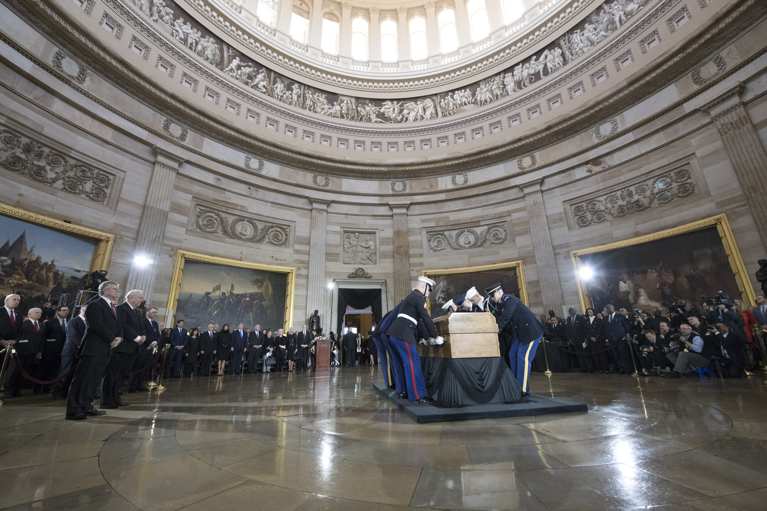 Reverend Graham lying in honor in the U.S. Capitol Rotunda