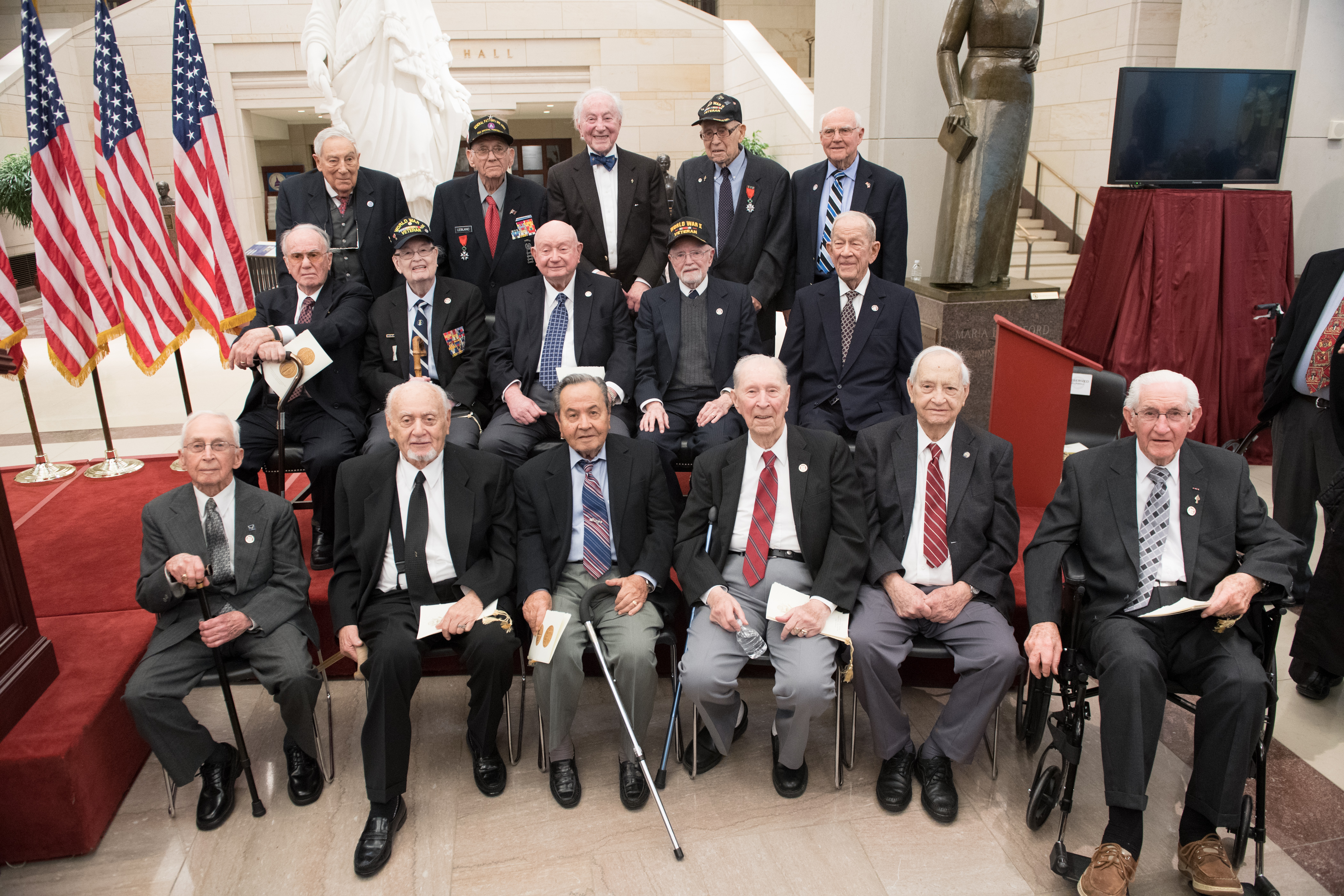 OSS veterans at the Congressional Gold Medal ceremony