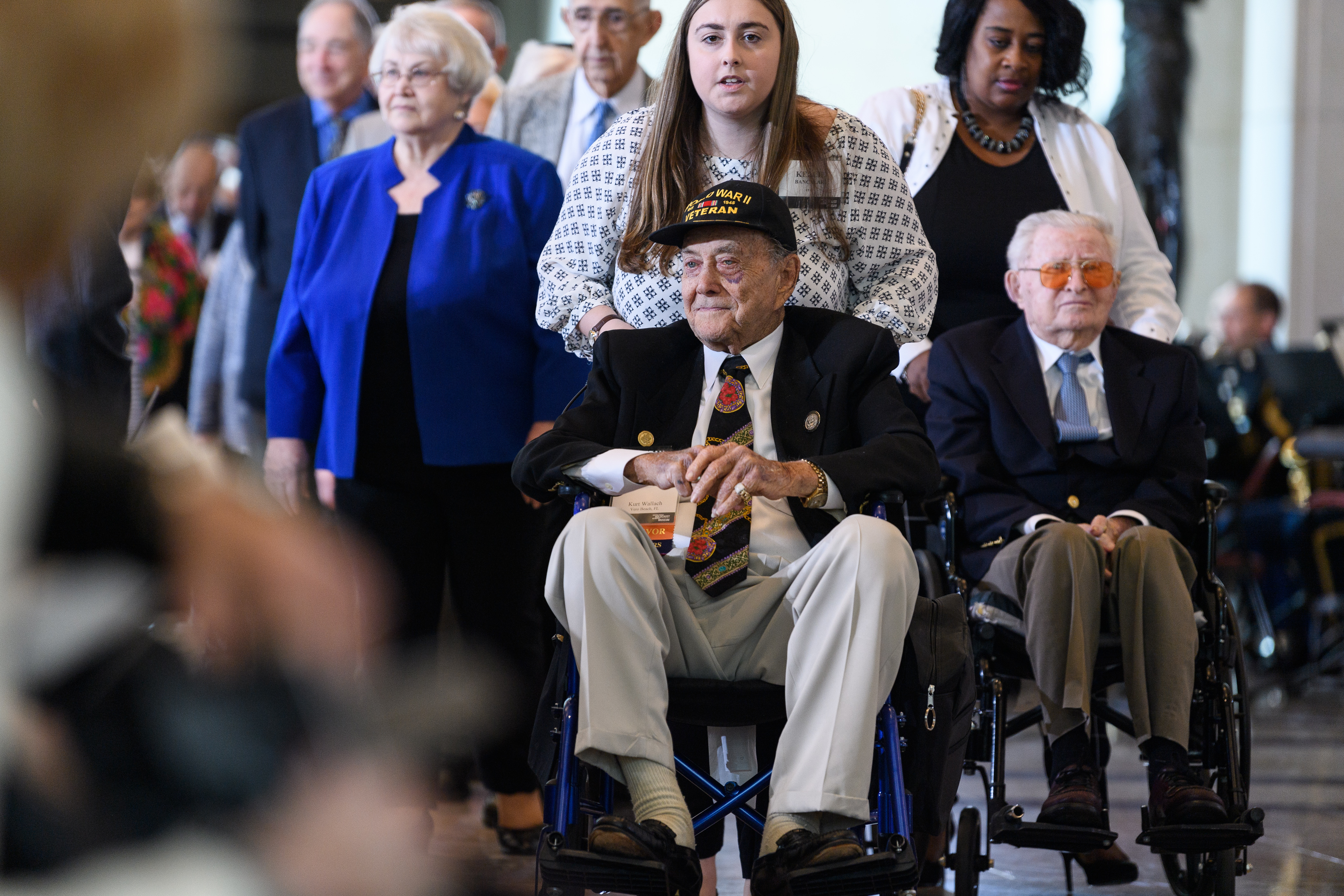 Holocaust survivors and veterans who liberated Nazi concentration camps were honored at the ceremony