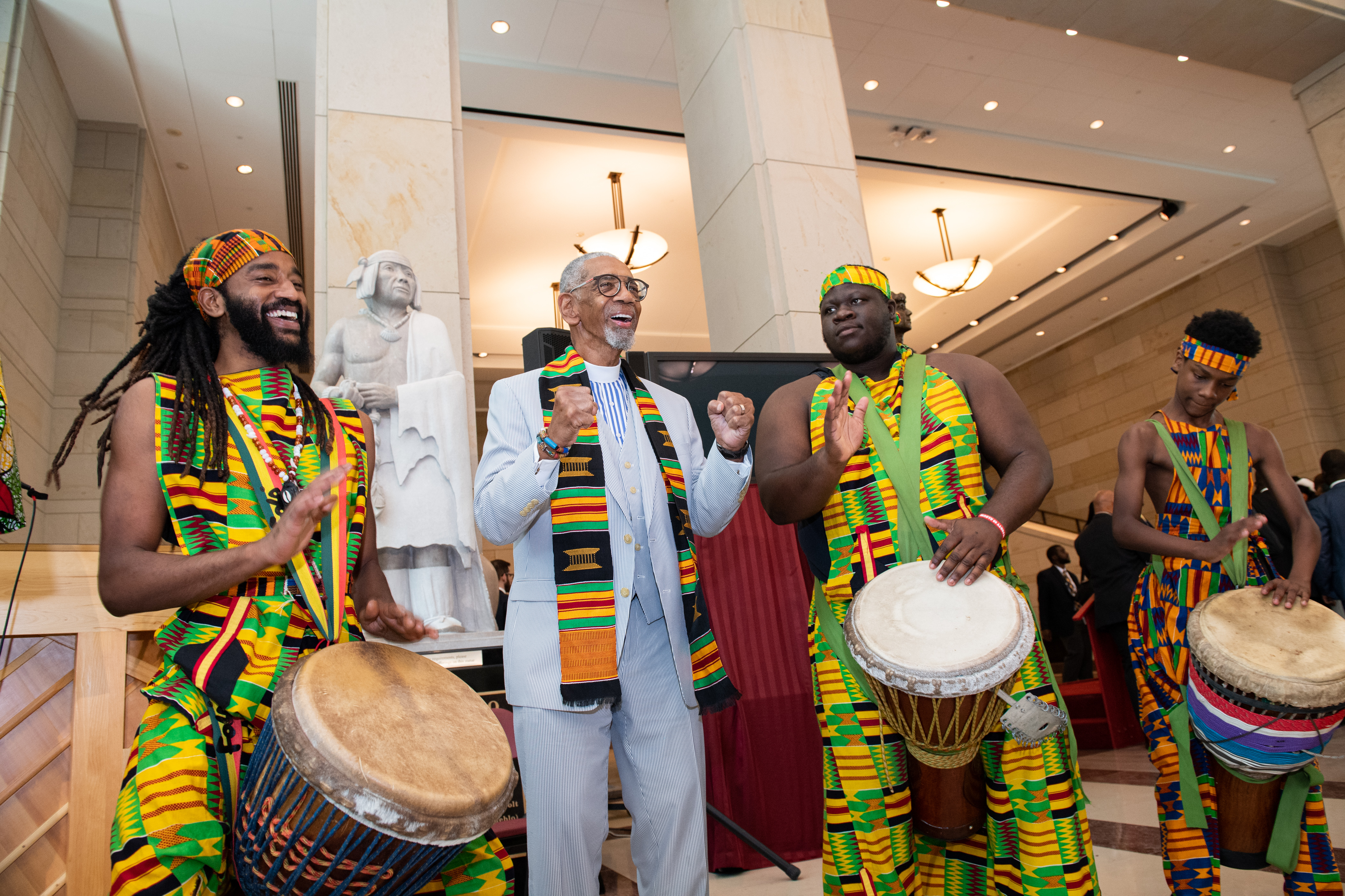 The event opened with traditional African drummers and dancers. Photo by Franmarie Metzler.