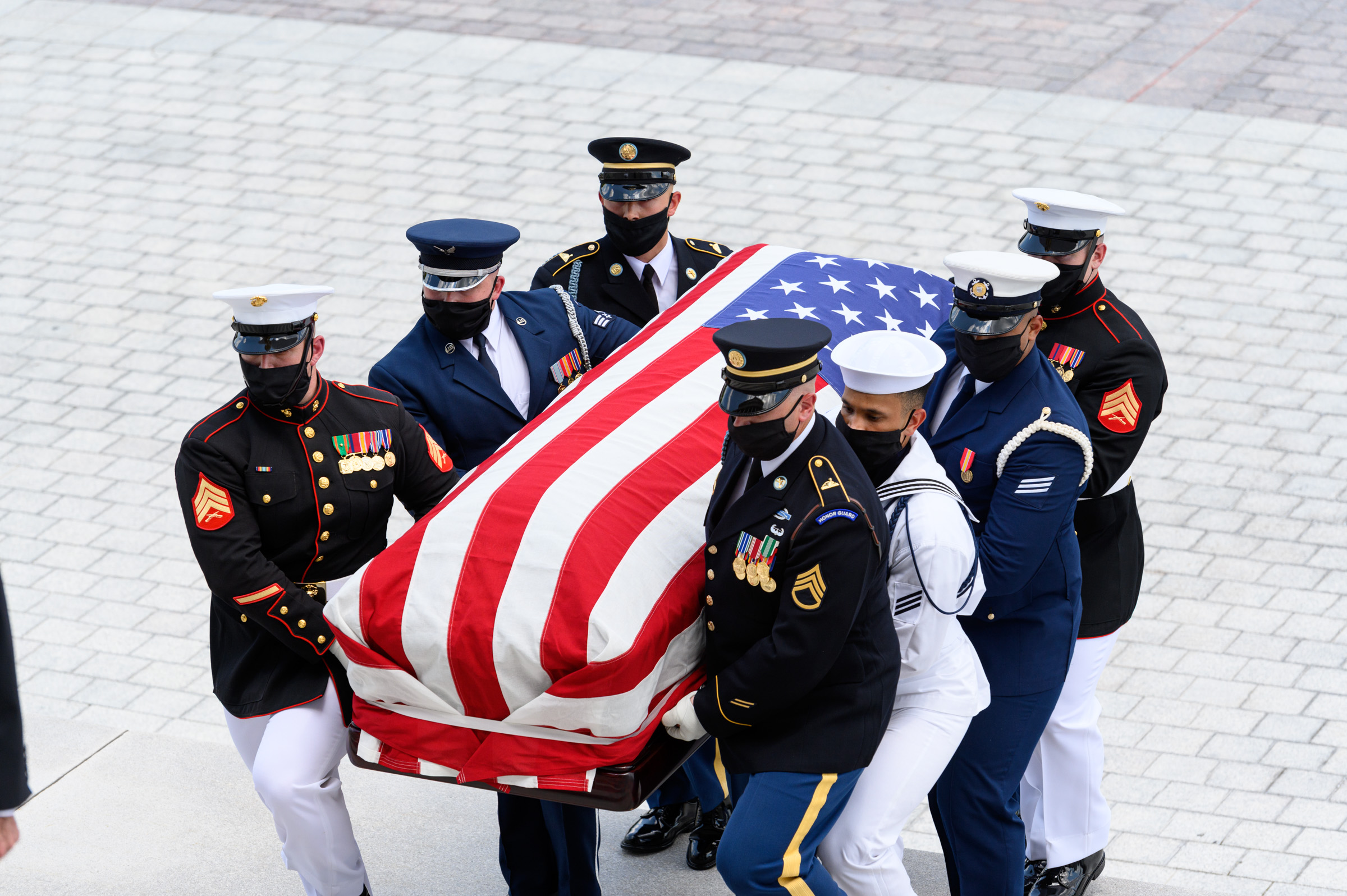 Rep. Lewis' casket was carried into the Capitol