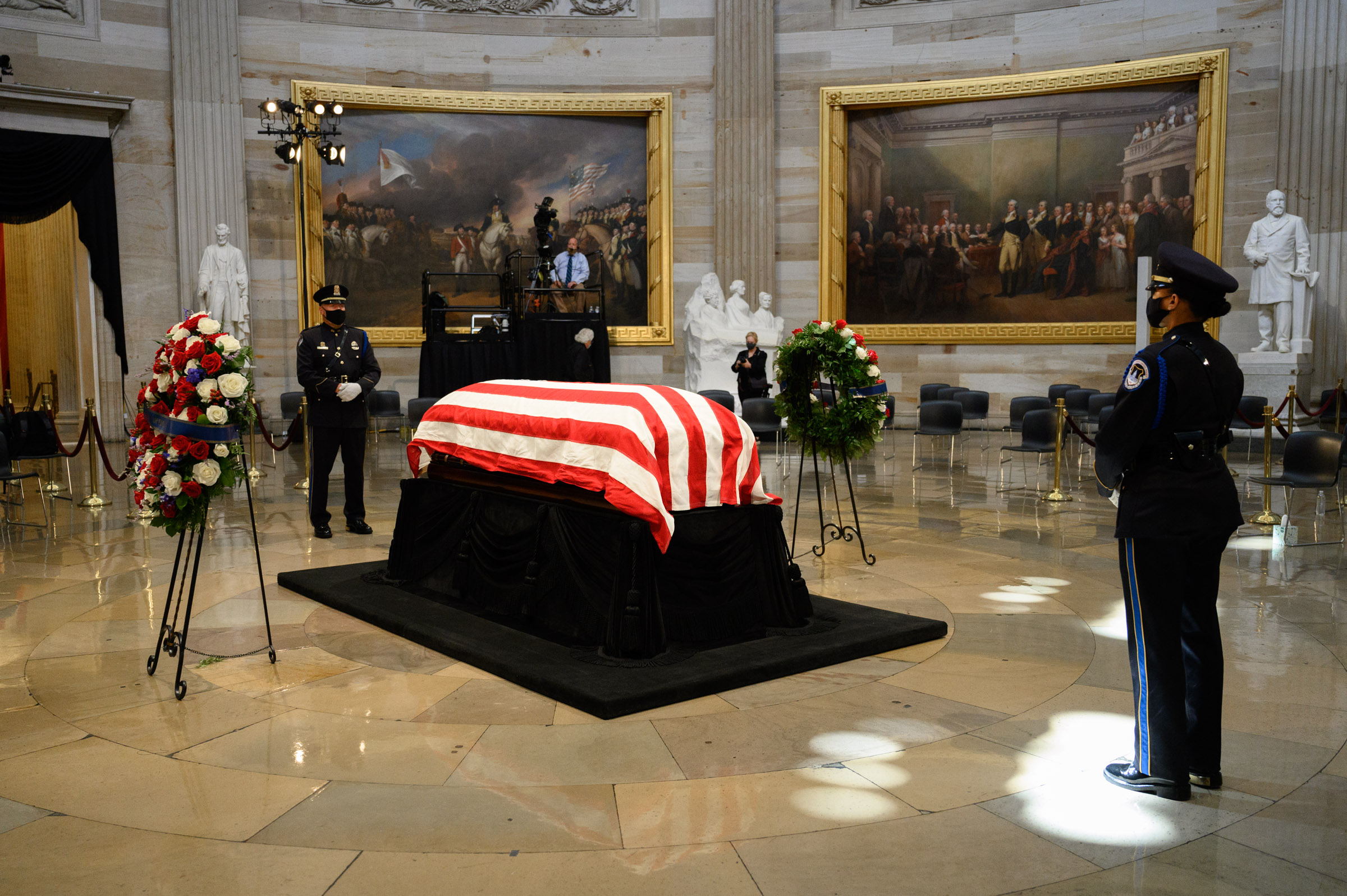 Rep. Lewis casket was placed on the same catafalque that held President Abraham Lincoln's casket.
