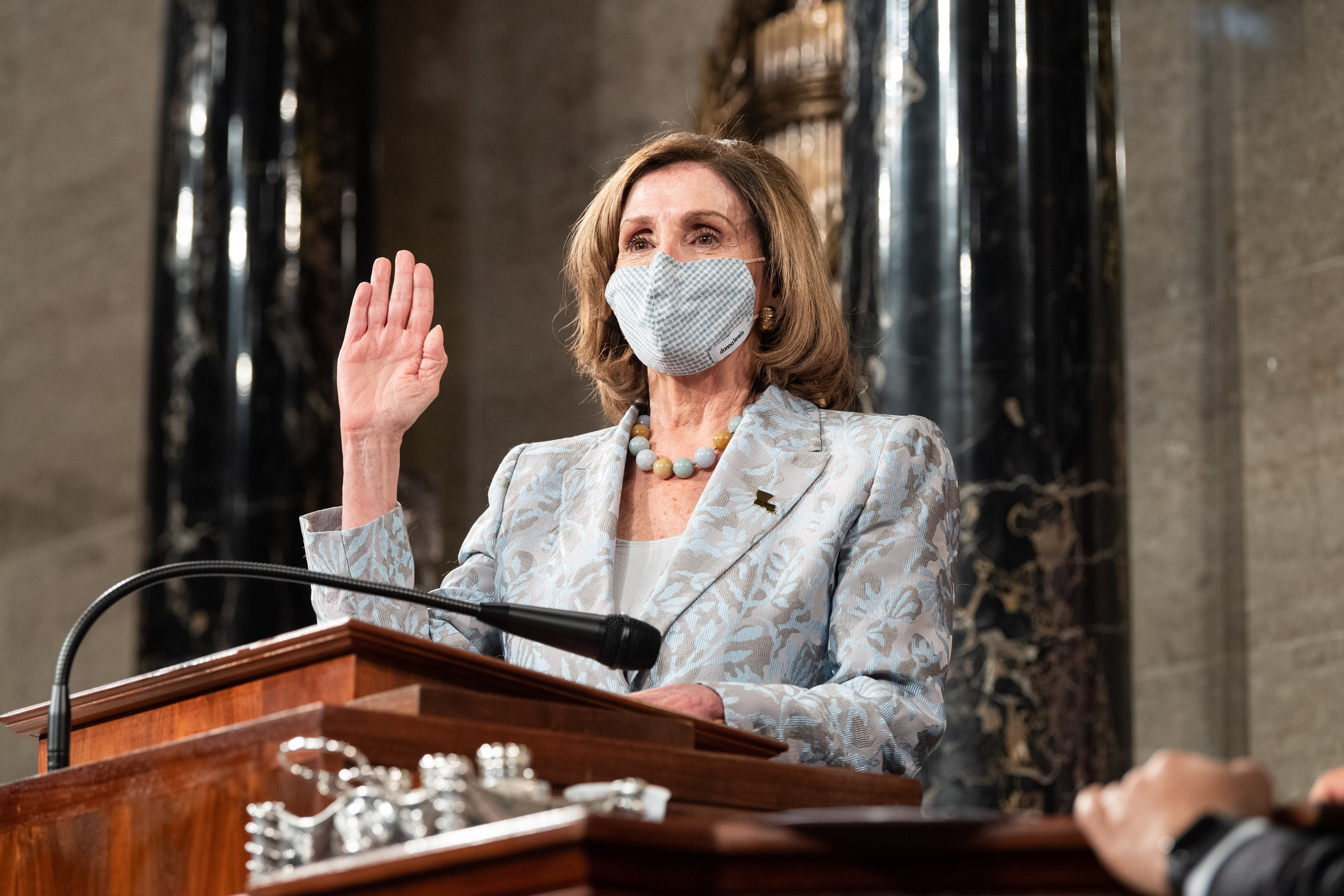 Speaker Nancy Pelosi was voted in for another two years as Speaker of the House.