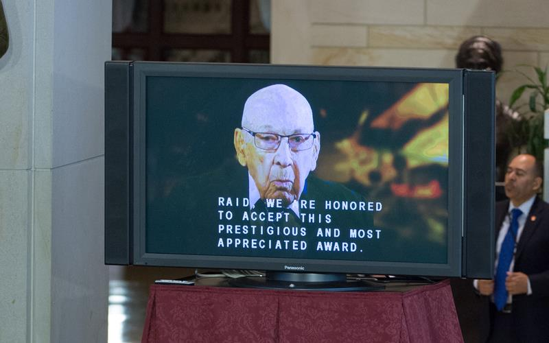 Surviving raider Dick Cole thanks Members via video message