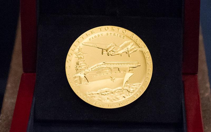 The Congressional Gold Medal awarded to the Doolittle Raiders