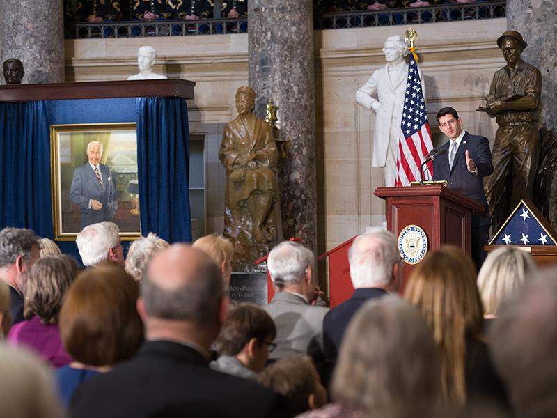 House Speaker Paul Ryan speaks at  the ceremony.