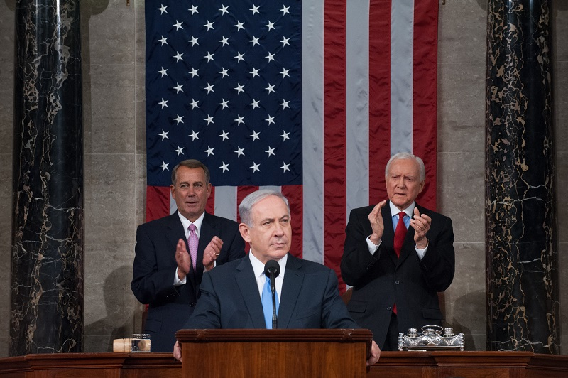 Israeli Prime Minister Benjamin Netanyahu addresses a joint session of Congress