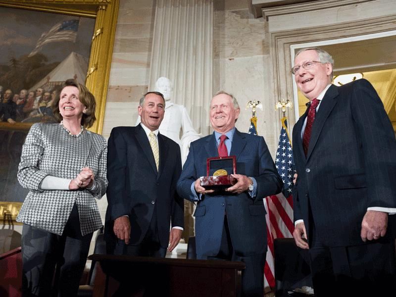 Jack Nicklaus receives the Congressional Gold Medal