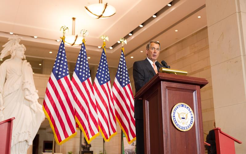 Speaker Boehner thanked Vietnam Veterans for their service