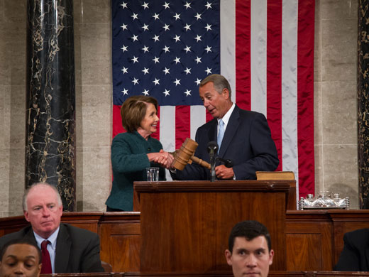 John Boehner is re-elected Speaker of the House