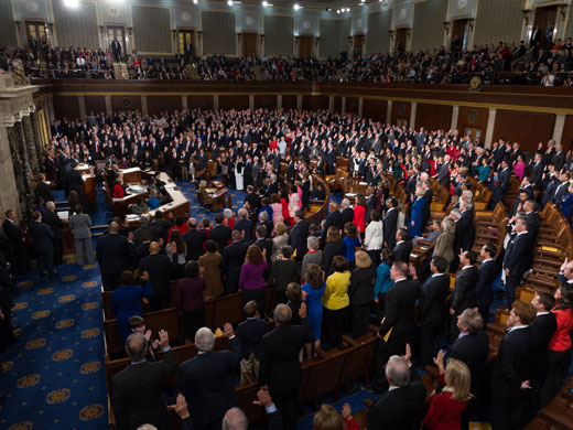 Speaker Boehner leads the swearing in of Members