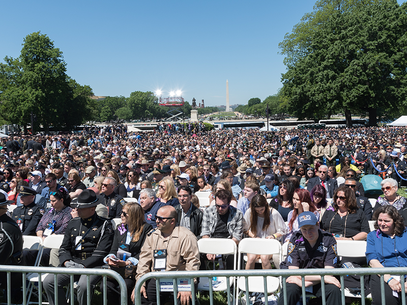 Thousands of police officers attend the ceremony