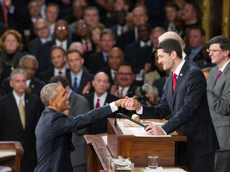 President Obama and Speaker of the House Paul Ryan.